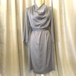 H&M Silver Cowl Neck Shift Dress